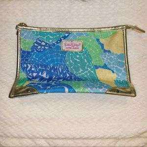 Lilly Pulitzer | Gold Trimmed Cosmetics Bag